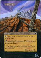 MTG Altered Art: Wasteland - Fall by LXu777