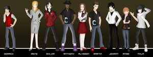 VN Character Lineup by NeonIncarnate