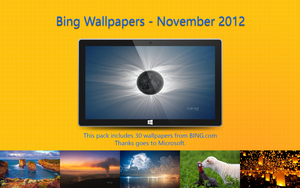 Bing Wallpapers - November 2012 by Misaki2009
