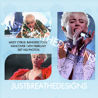 Photopack: Miley Cyrus - Bangerz Tour Vancover by justbreathedesigns