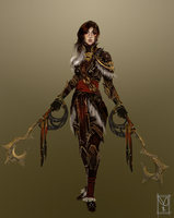 Dual Hookblade Character Design by Fantaisie-Triste