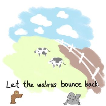 Random Dream 4/17/2017 - Walrus bounce by malachitecat