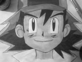 Ash Ketchum with China Ink by Konamon