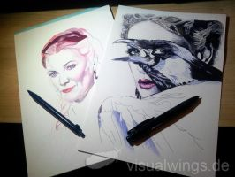 WIP - Lucretia + The Evil Queen by visualwings