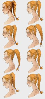 Expression Exercise - Profiles by STracyArt
