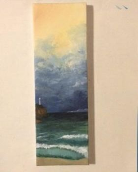Stormy Beach Painting by McGuiverstein1111
