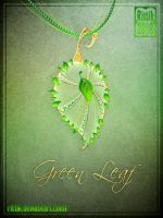 Amulet - Green Leaf by Rittik