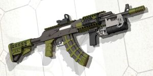 AK 47 tactical by hawk1lo