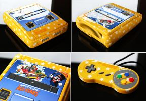 custom Super Mario All Stars SNES with region mod by Zoki64