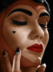 Colorization: Queen of hearts by Rosesylla
