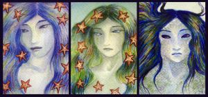 ATCs: Mermaids 1 - 3 by Athalour