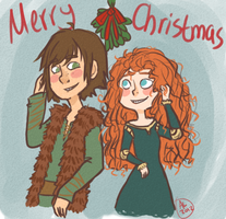 Hiccup And Merida by Quorii