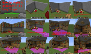 MineCraft Tutorial: How To Make A Bedroom by princesszelda224