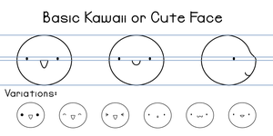 Basic Kawaii or Cute Face by Paradasia