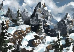 Mountains Sketch by Beaver-Skin