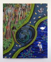 The Live Marshes, painting by RFabiano