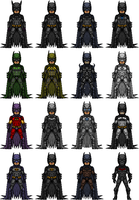 Batman Suits by UltimateLomeli