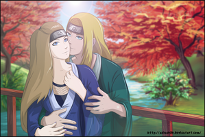 Deidara and Akina by AkinaSilver