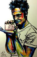 Tyler Durden Fight Club Painting by AnthonySturgeon