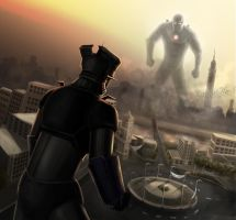 Mazinger (Tahrir square battle) by Bassem-W