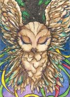 Feathers into the NewYear (ACEO) by Keyshe54