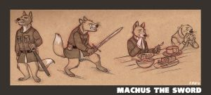 Commission: Machus the Sword by Kobb