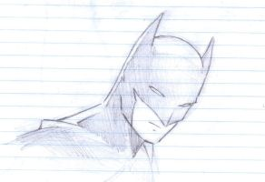 SKETCH: BATMAN by luisashi