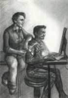 Tony and Bruce playing PC by vvh1827sf