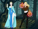 Emma and Elsa (Once Upon A Time) by suburbantimewaster