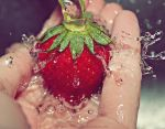 Splash of strawberry by naked-in-the-rain