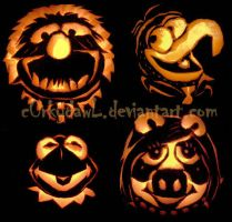 Muppet Pumpkin by c0rkydawL