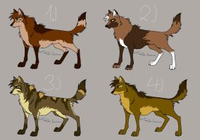 brown wolf character adoptables - Closed! by StanHoneyThief