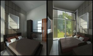 Green Cove BSD interior_guest bedroom by vaD-Endz