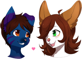 Nathan and Frostbite : Headshot Commission by Miiru-Inu