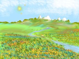 meadows and mountains by Eilesselas