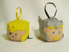 Loki and Thor Cubes by PlushWorkshop