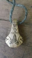 Oak Knotwork Mjolnir Thor's Hammer Pendant by Troll-Blood