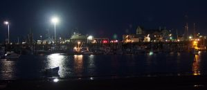 Provincetown Harbor Night Scene by TheMightyQuinn