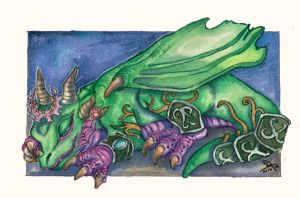Whelpling Aspects - Ysera by Dragon--Feathers