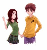 Dendi with his fan by RikkuTakedo