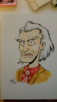 Doc Brown Sketch by DerFanboy