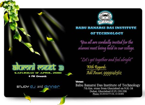 Invitation card sample by adilansari