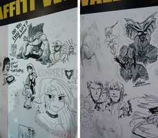 COSFEST XIII Graffiti Wall by ShawnnL