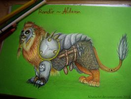 Rondir the Armored Lion by KhaliaArt