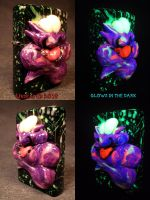 Plasma Slug Splatter Pop Zippo by Undead Ed Glows  by Undead-Art