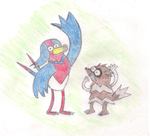 Mordellow and Rigzagoon by ToxicWyvern