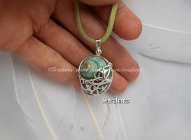'Faraway lands', handmade sterling silver pendant by seralune
