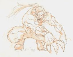 AOA Sabertooth Drawing by GavinMichelli