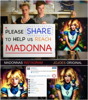 Madonna posted a picture of mine without credit by JoJoesArt