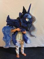 Peek-a-boo with Luna by KarasuNezumi